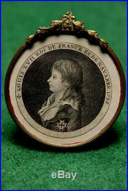 Cadre Lithographie De Louis XVII 18 Eme