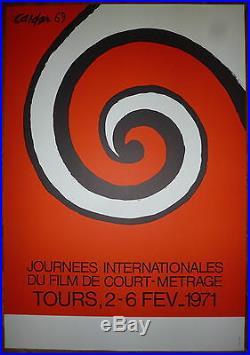 Calder Alexander Affiche Lithographie 71 art abstrait film cinéma court métrage