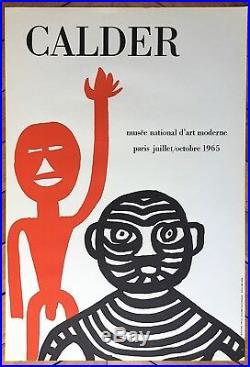 Calder Alexander affiche en Lithographie 1965 art abstrait abstraction