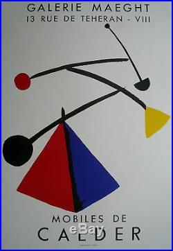 Calder affiche lithographie abstraction moblile art abstrait Calder stabile USA