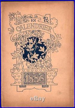 Calendrier. Grasset. Pour le magasin Le Bon Marché 1886. Avant la lettre