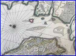 Carte Géographique XVI ème Blaeu 1645 Ile de Ré et D'Oleron La Rochelle