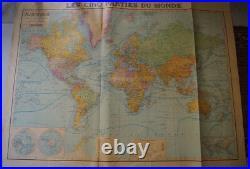 Carte Planisphere cartes taride debut 20° Siécle