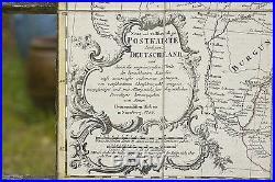 Carte XVIII° géographique des POSTES dALLEMAGNE Homan 1786 de Paris à Cracovie