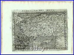 Carte Crete Chypre.Carte Anc Magini Map 1597 Asia Minor Anatolie Turquie