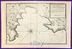 Carte ancienne AYROUARD antic map c1740 CAMPOMORO Tallano Propriano Serra Corse