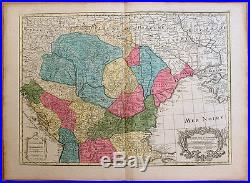 Carte ancienne DELISLE antic map 1780 HONGRIE Hungary Valaquie Bulgarie Bosnie