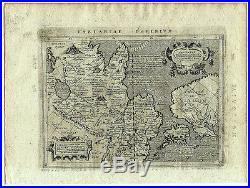 Carte ancienne MAGINI map 1597 TARTARIE Russie Chine China Japon Alaska 229