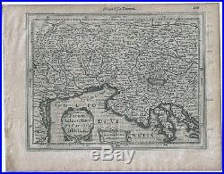 Carte ancienne MERCATOR HONDIUS map 1630 ISTRIE Istria Trieste Pula Venezia 499
