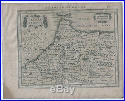 Carte ancienne MERCATOR HONDIUS map 1630 ROYAUME DE FEZ Gibraltar Maroc Fès 571