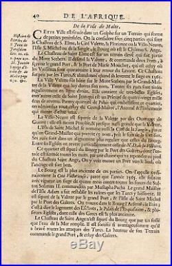 Carte en Couleur XVIIe Île de Malte Malta Gozo Island Cominotto Neptune 1683