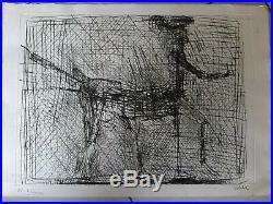 César BALDACCINI Hommage à Picasso 1985 Gravure originale signée