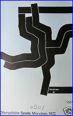 Chillida Eduardo- Serigraphie Originale Pour Les Jeux Olympiques De 1972