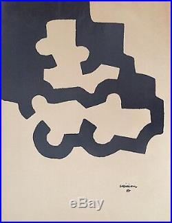 Chillida Eduardo affiche Lithographique art abstrait abstraction
