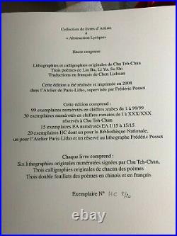Chu Teh Chun Livre De Lithographies Et Poemes Chinois