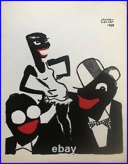Colin Paul Le Tumulte Noir Lithographie 1926