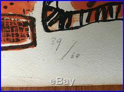 Corneille, lithographie, Un été tropical, signé 1967, CoBrA 60 exemplaires