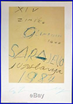 Cy Twombly, lithographie offset signée à la main 1995