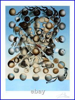 DALI Salvador (D'aprés) Lithographie Galatée aux sphères 76x56cm