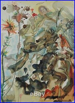 DALI Salvador PARADIS 25 BOIS GRAVE original #1960-1963 #DIVINE COMEDIE