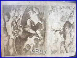 D'après MICHELANGE, Ganymede, gravure originale par P. Thomassin (1618)