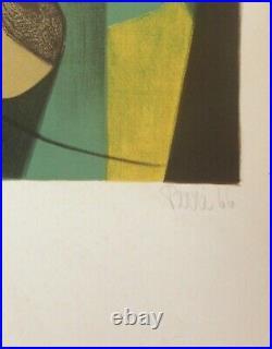 Danièle PERRÉ Lithographie originale signée numérotée au crayon
