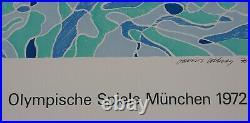 David HOCKNEY Le plongeur, #Jeux Olympiques, Munich, 1972 #lithographie