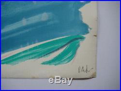 Debré Olivier Lithographie Signée Au Crayon Num/200 Handsigned Lithograph