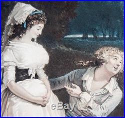 Debucourt Annette & Lubin 1789 rarissime gravure superbe état avant la lettre
