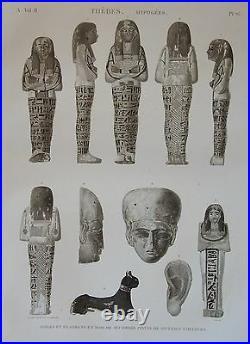 Description De L'egypte, (1825), Thebes, Hypogees, Idole Et Fragments