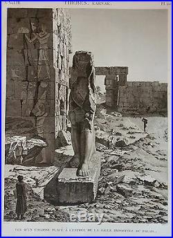 Description De L'egypte, (1825), Thebes, Karnak. Colosse Salle Hypostyle