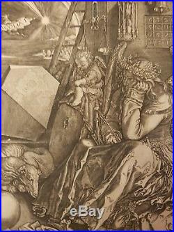 Durer Melancolia gravure ancienne 1602