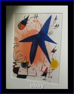 ESPANA ABSTRACTION SURREALISME MOURLOT MIRO (Joan) Lithographie L'Astre bleu