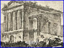Eau-forte originale de Giovanni Battista PIRANESI Roma