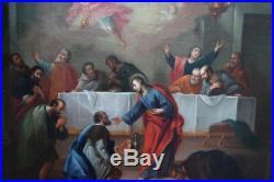Ecole Italienne Du XVIIème, Jésus Offre l'Eucharistie Aux Apôtres