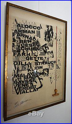 Ecole de Nice, Arman, lithographie, tampon suspendu, 1967, signé numéroté