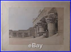 Edfou Egypte lithographie David Roberts XIXème siècle