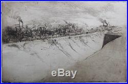 Edgar CHAHINE (1874-1947) EXCEPTIONNEL FORTIFICATIONS DE PARIS EN 1901 RARE