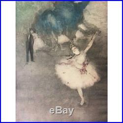 Edgar Degas Danseuse l'étoile impressionnisme estampe originale XIXe