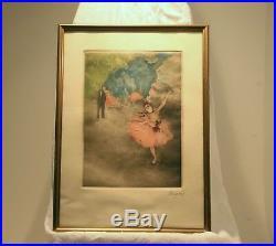 Edgar Degas Danseuse létoile, estampe en couleurs, originale du XIXe signée