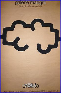 Eduardo Chillida Affiche originale Lithographie 1981 art abstrait abstraction