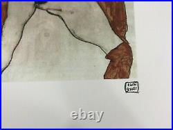 Egon Schiele Lithographie CM 50x70 Avec Authentique Ediz. Spadem Cachet