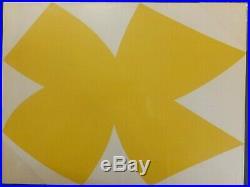 Ellsworth Kelly Composition jaune et blanche lithographie originale 1958