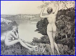 Émile Auguste WERY (1868-1935) Automne l'Estampe Moderne 1899 art nouveau