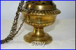 Encensoir en bronze doré ajouré avec son réservoir XIXe Siècle