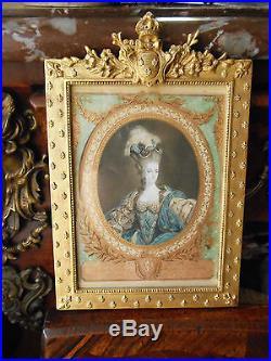 Estampe Tres Rare Par Janinet 18 Siecle Marie Antoinette