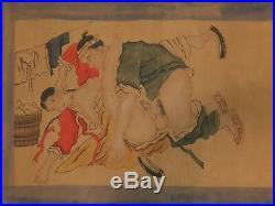 Estampe sexuelle Japonaise 19 ème shunga ou images de printemps