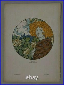 Eugène GRASSET La Jalousie 1899 lithographie en couleur