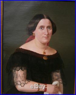 Excellent gd portrait en PARFAIT ETAT signée Adeline Jaeger PEINTRE ALLEMAND