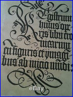 Exceptionnel rare Schedel 1493 chronicarum God leaf incunabula incunable